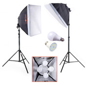 1400w LED Softbox Lighting Kit | LuxLight | Photography & Video