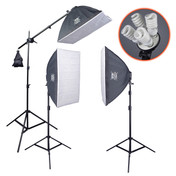 Softbox Lighting Kit | PhotoGeeks - SBK3 | 1800w  3 x 120w 5500k | Photography Video