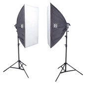 Softbox Studio Light Kit | PhotoGeeks - S52 | 1500w  50 x 70cm | Photography Video