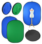 Pop up Chromakey Background for Video & Photo | Green / Blue | Collapsible Backdrop