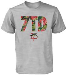 7TD Digi-Floral Logo T-Shirt