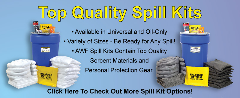 Spill Kits, Universal Spill Kits, Oil Only Spill Kits, Sorbents, Spill Sorbents