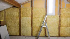 Batt insulation in an Attic