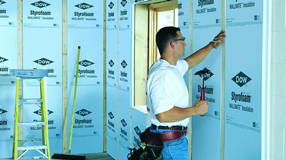 DOW Styrofoam Blue Board, economic rigid XPS insulation