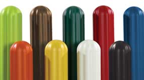 Multi colored Bollard Sleeves
