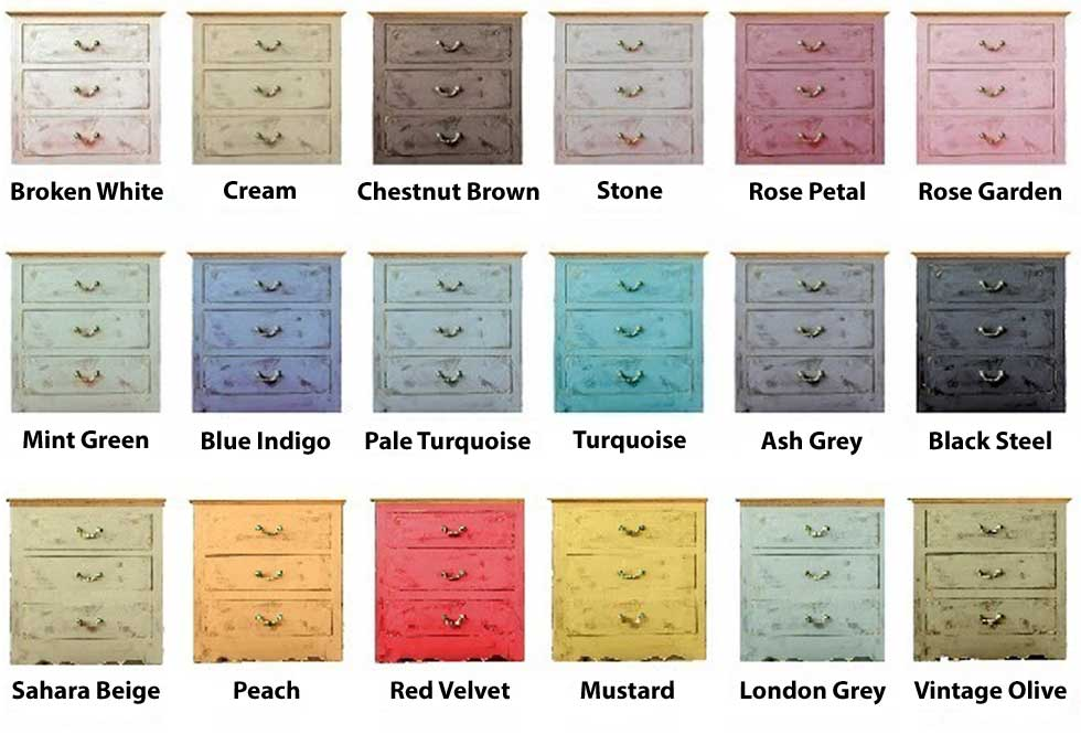 PintyPlus Chalk Finish Colors