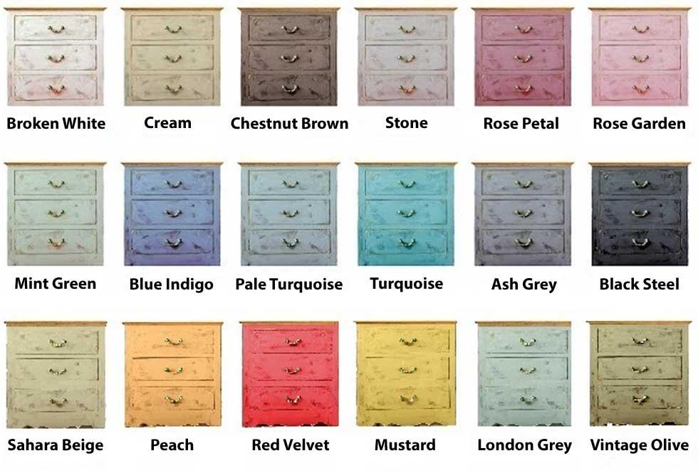 PintyPlus Chalk Finish Colors