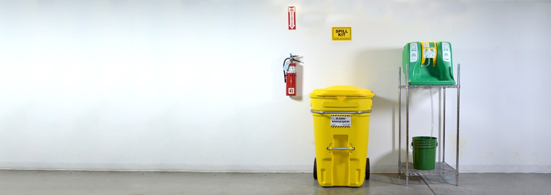 Make sure Spill Kits are accessable and visible.