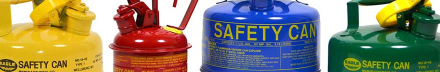 Poly & Stainless Steel Safety Cans Type I