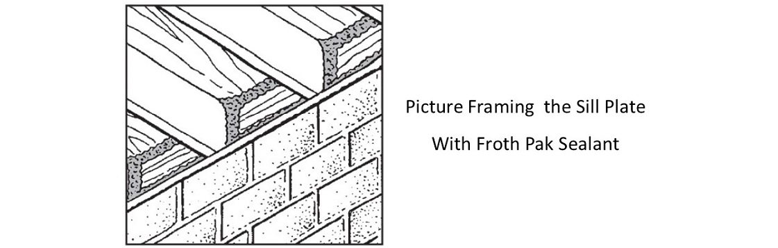 Picture Framing the Sill Plate with Froth Pak Sealant