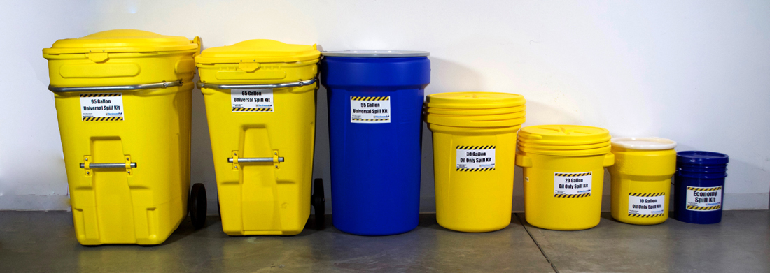 Spill Kits come ins a wide range of sizes