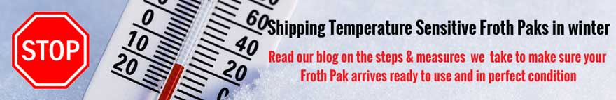 Shipping Froth Paks in the Winter