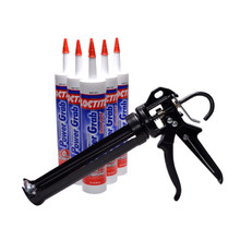 Contents: Pro Caulk Gun, 6 Cartridges Power Grab Adhesive