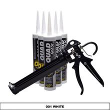 Contents: Pro Caulk Gun, 6 Cartridges Quad Max Sealant