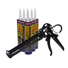 Contents: Pro Caulk Gun, 6 Cartridges PL 3X Premium Adhesive