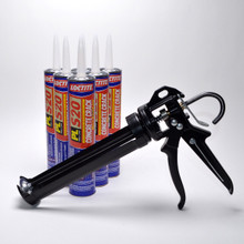 Contents: Pro Caulk Gun, 6 Cartridges PL S20 Sealant