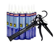 Contents: Pro Caulk Gun, 12 Cartridges PL 300 Adhesive