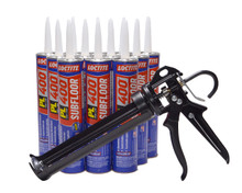 Contents: Pro Caulk Gun, 12 Cartridges PL 400 Adhesive