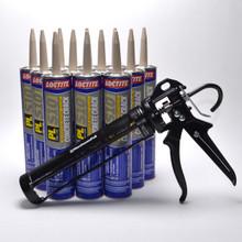 Contents: Pro Caulk Gun, 12 Cartridges PL S10 Sealant