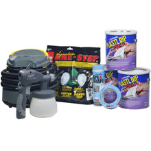 Contents: 3 Gallons Plasti Dip Spray, Earlex Spray Station 3500, Respirator, Tape & Drape and Masking Tape
