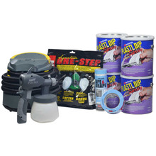 Contents: 4 Gallons Plasti Dip Spray, Earlex Spray Station 3500, Respirator,  Tape & Drape, and Masking Tape