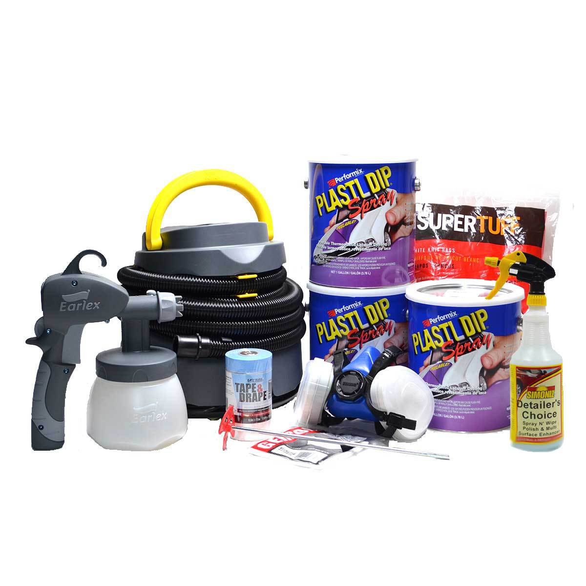 Plasti Dip Spray 3 Gallon Kit - Muscle Colors: Sprayer