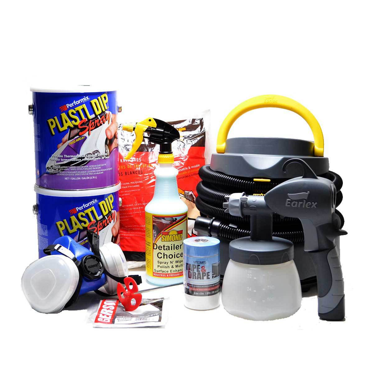 Plasti Dip Spray 2 Gallon Kit - Muscle Colors: Sprayer