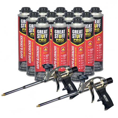Full Case of 12 - 24oz cans with 2 Pro Foam Guns.