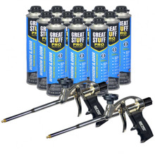 Full case of 24oz cans and 2 Pro Foam Guns