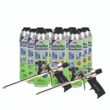 12 Cans of Dow Enerfoam and 2 Foam Guns