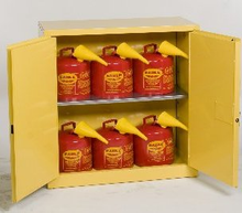 30 Gallon Flammable Liquid Safety Cabinet, 6 piece 5 Gallon Can Combo Eagle 1932CS6