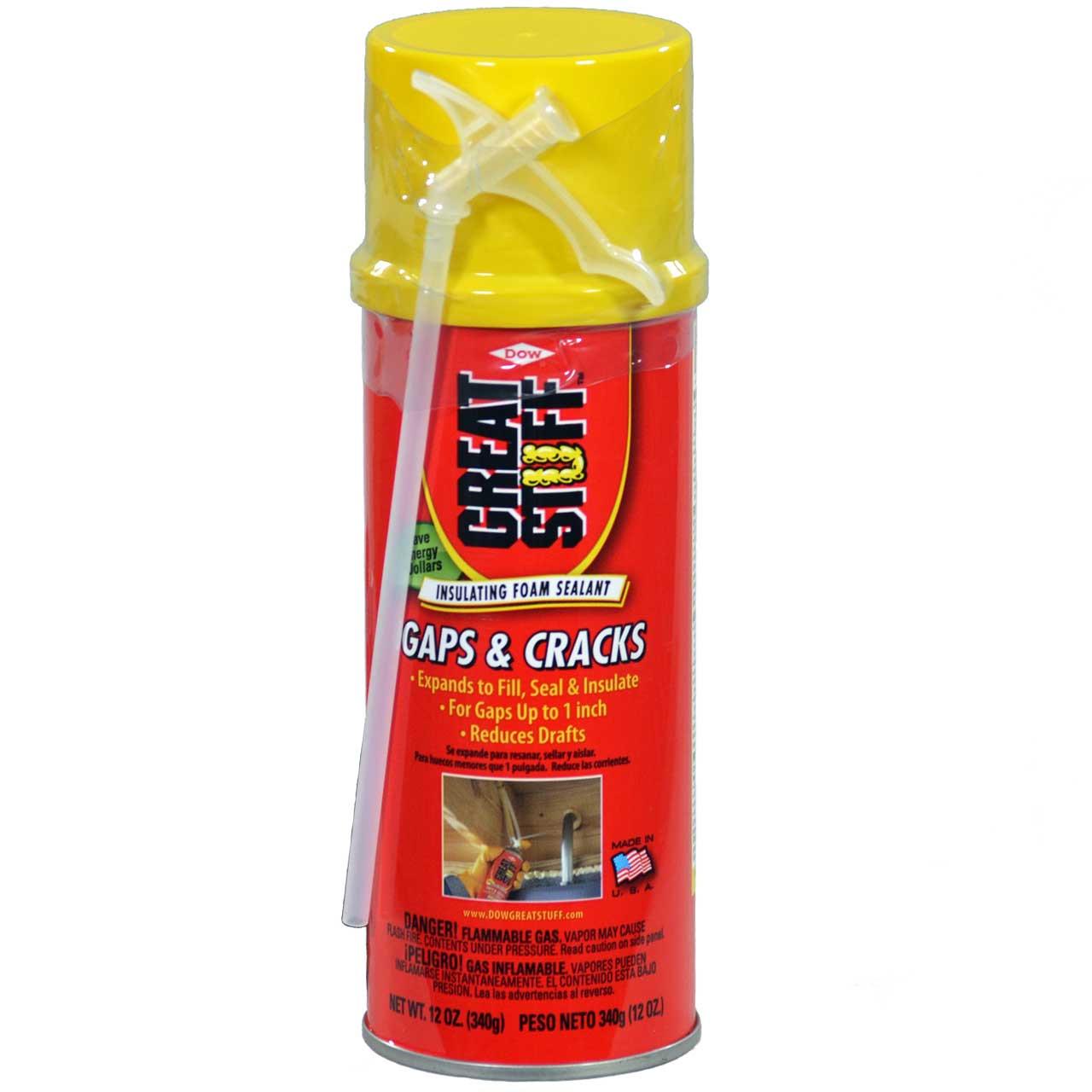 Dow Great Stuff Gaps & Cracks Insulating Foam Sealant, 12 oz Can