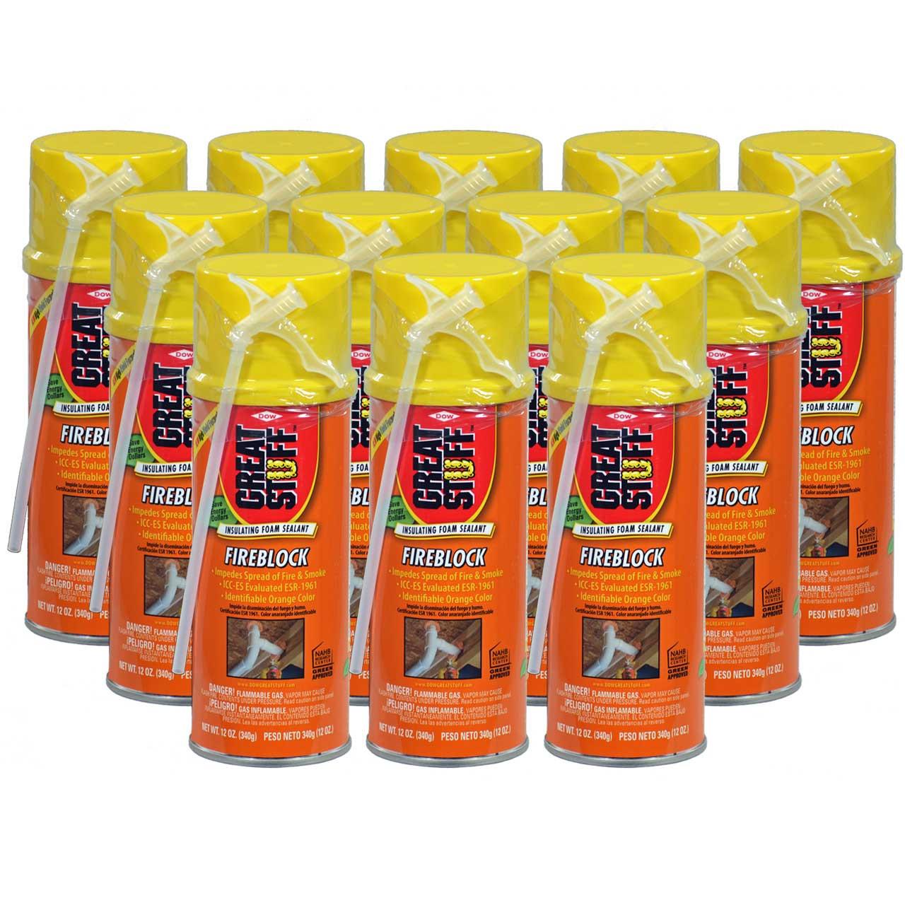 Dow Great Stuff Fireblock Insulating Foam Sealant, 12 oz, Full Case