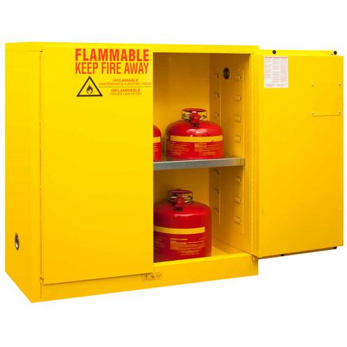 Durham 1030M-50 Cabinet: 30 gallon capacity, manual close doors