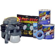 """Contains: 3 Gallons Plasti Dip Spray 50, Earlex Spray Station 3500, P95 Organic Vapor Respirator, 2"""" Masking Tape, 4' Tape & Drape"""