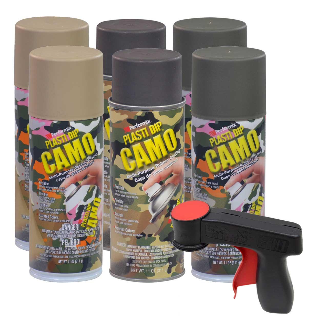 Plasti Dip Camo Color Set 6 11oz Sprays With Cangun