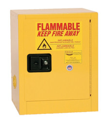4 Gallon Flammable Liquid Safety Cabinet, Manual Close Door, Yellow, Eagle  1904