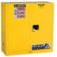Sure-Grip® EX Flammable Safety Cabinets can accommodate an additional padlock for extra security.