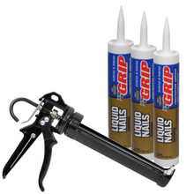 3 Cartridges = 1/4 Case with Pro Caulk Gun