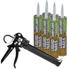 6 Cartridges U003d 1/4 Case With Pro Caulk Gun