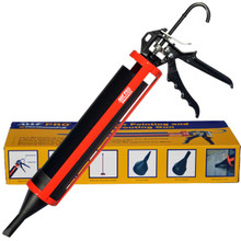 Our Pointing and Grouting Gun features 12:1 mechanical advantage and interchangeable tips
