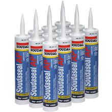 """Soudaseal AP All Purpose SMX Hybrid Polymer Sealant/Adhesive, 35% Movement Capability,10.1 oz Tube, Limestone, Case of 12"""