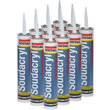 """""""Soudacryl Acoustical, Acrylic Sound Sealant, 29 oz Tube, White, Case of 12"""""""