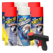 Plasti Dip Red & Pearlizer Kit: 4 cans Red, 2 cans Pearlizer, 1 Can Gun