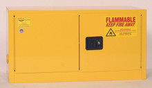 15 Gallon Flammable Liquid Safety Cabinet, Manual Close Door, Yellow, Eagle ADD 15
