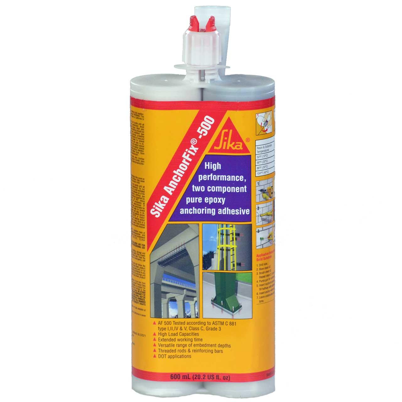 Anchorfix 500 Epoxy Resin Kit 20 Oz 2 Component Tube Static Mixer