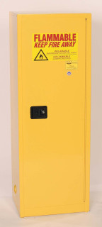 24 Gallon Flammable Liquid Safety Cabinet, Manual Close Door, Yellow, Eagle 1923