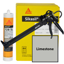 Sikasil 728SL Full Case with AWF PRO 29oz Caulk Gun