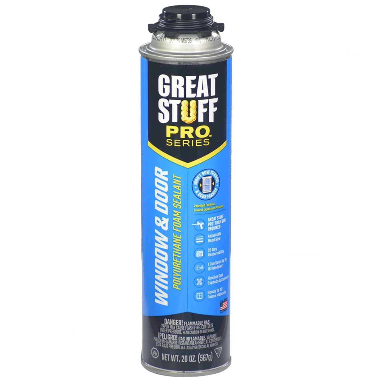 Dow Great Stuff Pro, Window & Door (Low Expansion), 20oz Pro Can