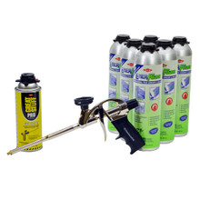 Great Stuff Kit, 6x30oz ENERFOAM™, 1 Cleaner, Standard Gun